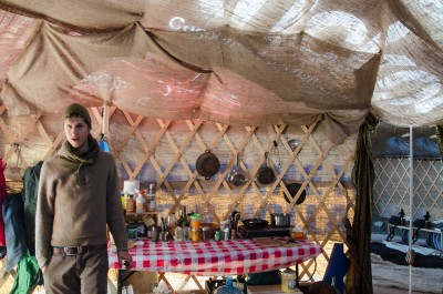 Inside the yurt, Jefferey is well-prepared for any food shortage by keeping a surplus of preservatives. (Wade Tomko/The Omega)