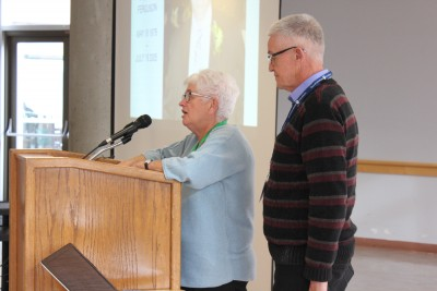 Marlyn and Ian Ferguson spoke at the Restorative Justice Symposium on Nov. 13. (Carli Berry/The Omega)