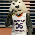 If you missed your chance to hug this guy, find him at a home game instead. (Stacey Krolow/TRU Athletics)