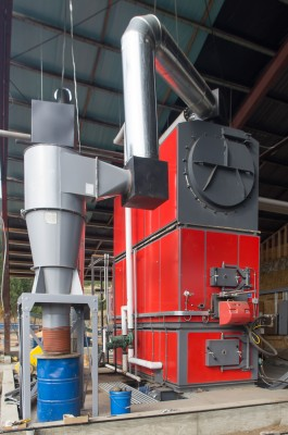 A wood biomass boiler at the Integrated Biomass Resources facility in Oregon. (Flickr - Oregon Department of Forestry)
