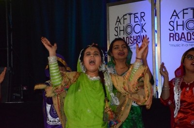 TRU students performing a dance in celebration of Diwali on Friday night. (Jennifer Will/The Omega)