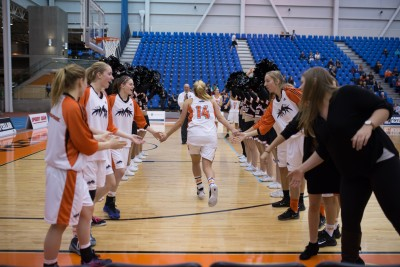 TRU's Michelle Bos sunk 17 points worth in the team's 68-44 victory over the SAIT Trojans. (TRU Athletics)