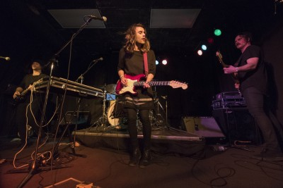 Van Damsel performing at the Blue Grotto on Jan. 21. (Tristan Davies/The Omega)
