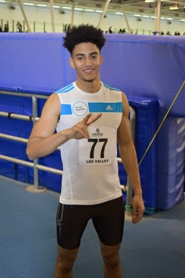 Anton Dixon, seen here after his first senior competition in the U.K., is hoping to make Team Canada in time for the Olympics this summer in Rio de Janerio. (Submitted)