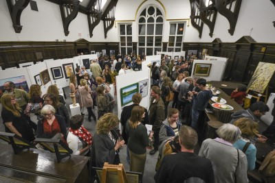 A packed venue at the old courthouse for Art Exposed's largest open house ever. (Tristan Davies/The Omega)