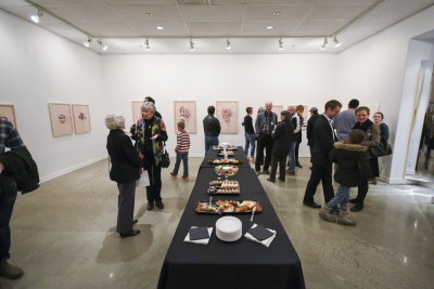 The Under My Skin exhibit at the TRU art gallery. (Tristan Davies/The Omega)