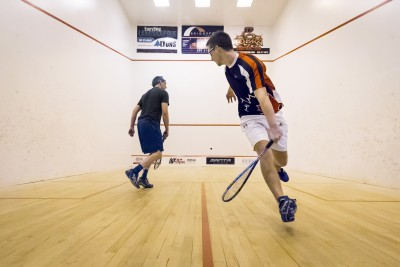 Eric Valdal and Nick James play in the men's final for first place. (Tristan Davies/The Omega)