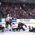 Canada opened the scoring, but once Team USA tied it up and took the lead, the Canadian women couldn't get it back. (Kim Anderson/The Omega)