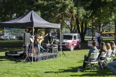 Live music entertains the crowd at last years World Rivers Day event. (Jared MacArthur/The Omega)