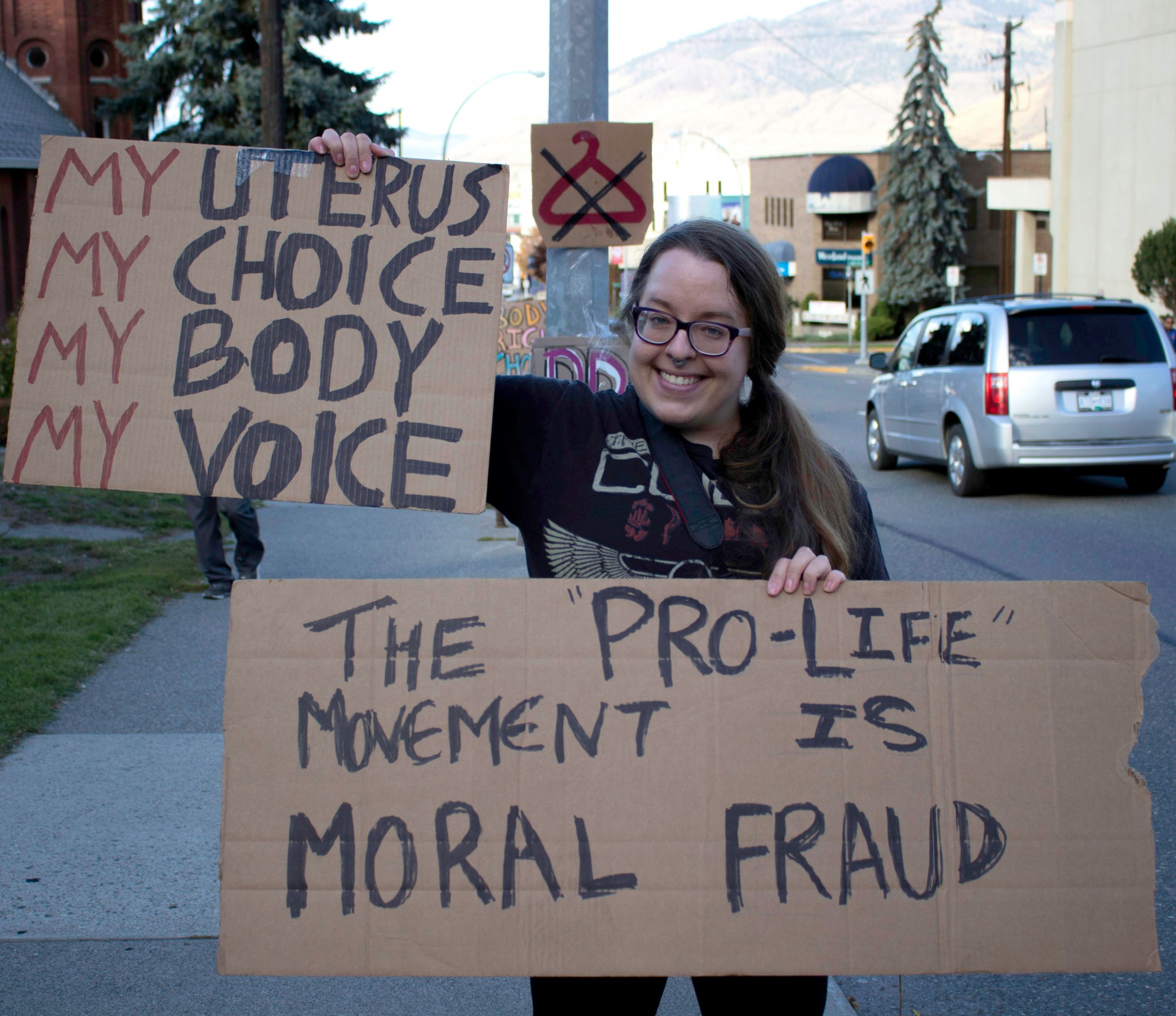 Backyard Abortion: Pro-life, Pro-choice Groups Demonstrate In Front Of Church