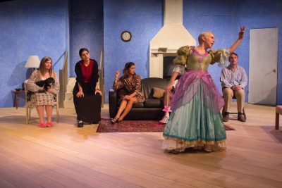 A scene from Vanya and Sonia and Masha and Spike at the Black Box Theatre. (Marcela Arévalo/The Omega)