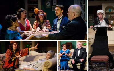 Stills from the haunting and hilarious Western Canada Theatre production Blithe Spirit. (Stephen Wild/Western Canada Theatre)