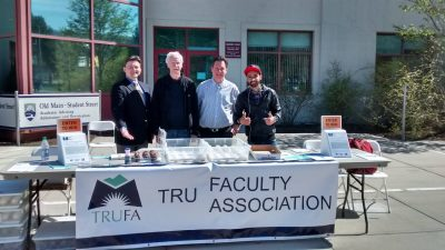 TRU Faculty Association members campaigning in April 2016, for the Open the Doors campaign. (TRUFA)