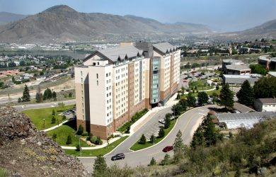 A bird's eye view of the TRU Residence and Conference Center. (TRU Flickr)